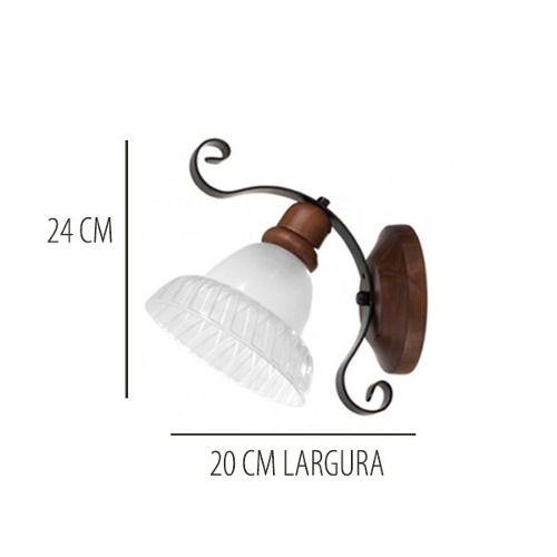 Kit 4 Arandela Vintage Rústica Sombrero 1 Lâmpada Madelustre