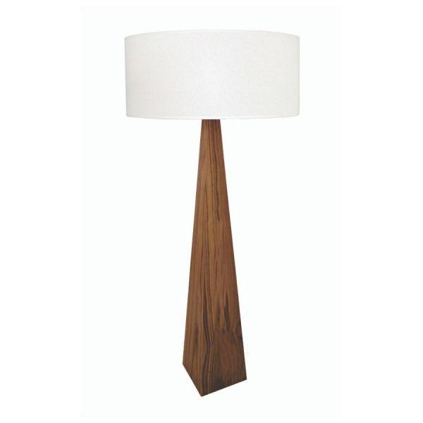 Luminária de Chão Abajur Coluna Clean 155cm Madeira Imbuia