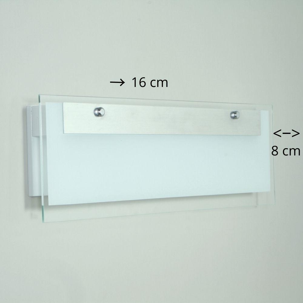 Arandela 2 Focos De Luz Com Friso Line 16 cm