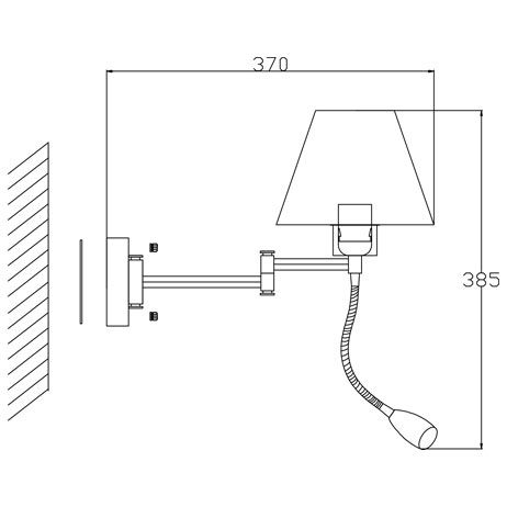 Arandela Articulável Vela 2 Lâmp Tecido Branco e Aço Cromo BL