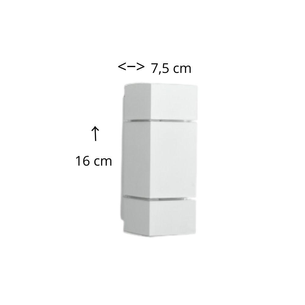 Arandela Branca Tubo Friso Com 2 Fachos 16 cm