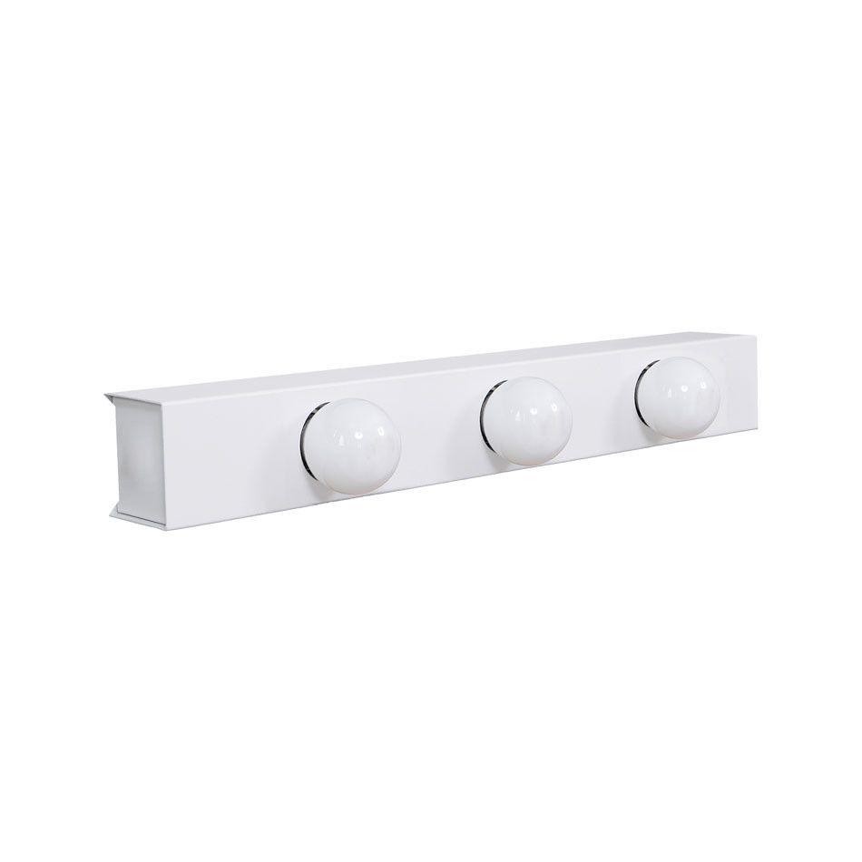 Arandela Camarim 3 Lâmpadas 40cm Alumínio Branco com Botão RL