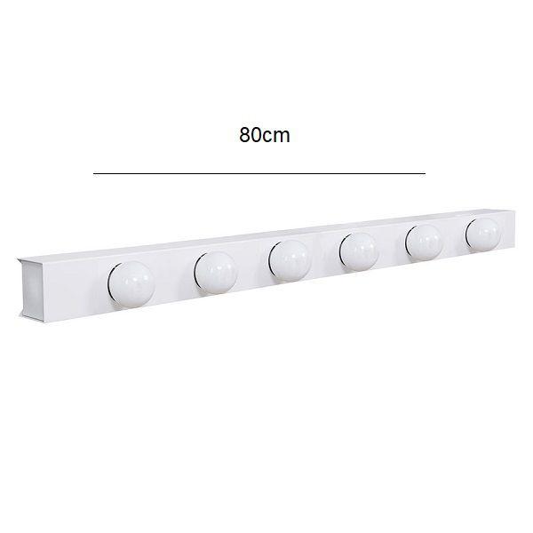 Arandela Camarim 6 Lâmpadas 80cm Alumínio Branco com Botão RL