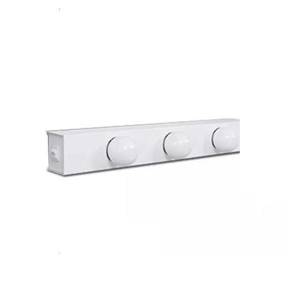 Arandela Camarim 7 Lâmpadas 83cm Alumínio Branco com Botão RL