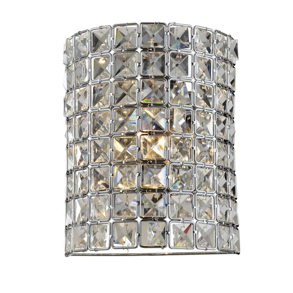 Arandela Parede de Cristal 18cm x 22cm Luxor I Transparente BL