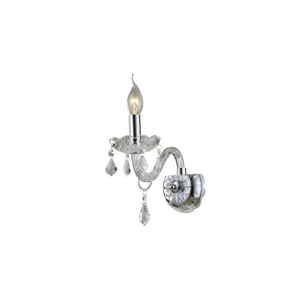 Arandela de Cristal Maria Thereza Transparente 1 Lâmpada BL