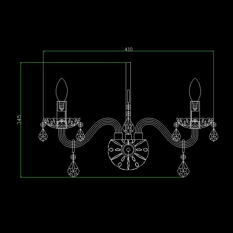 Arandela de Cristal Maria Thereza Transparente 2 Lâmpadas BL