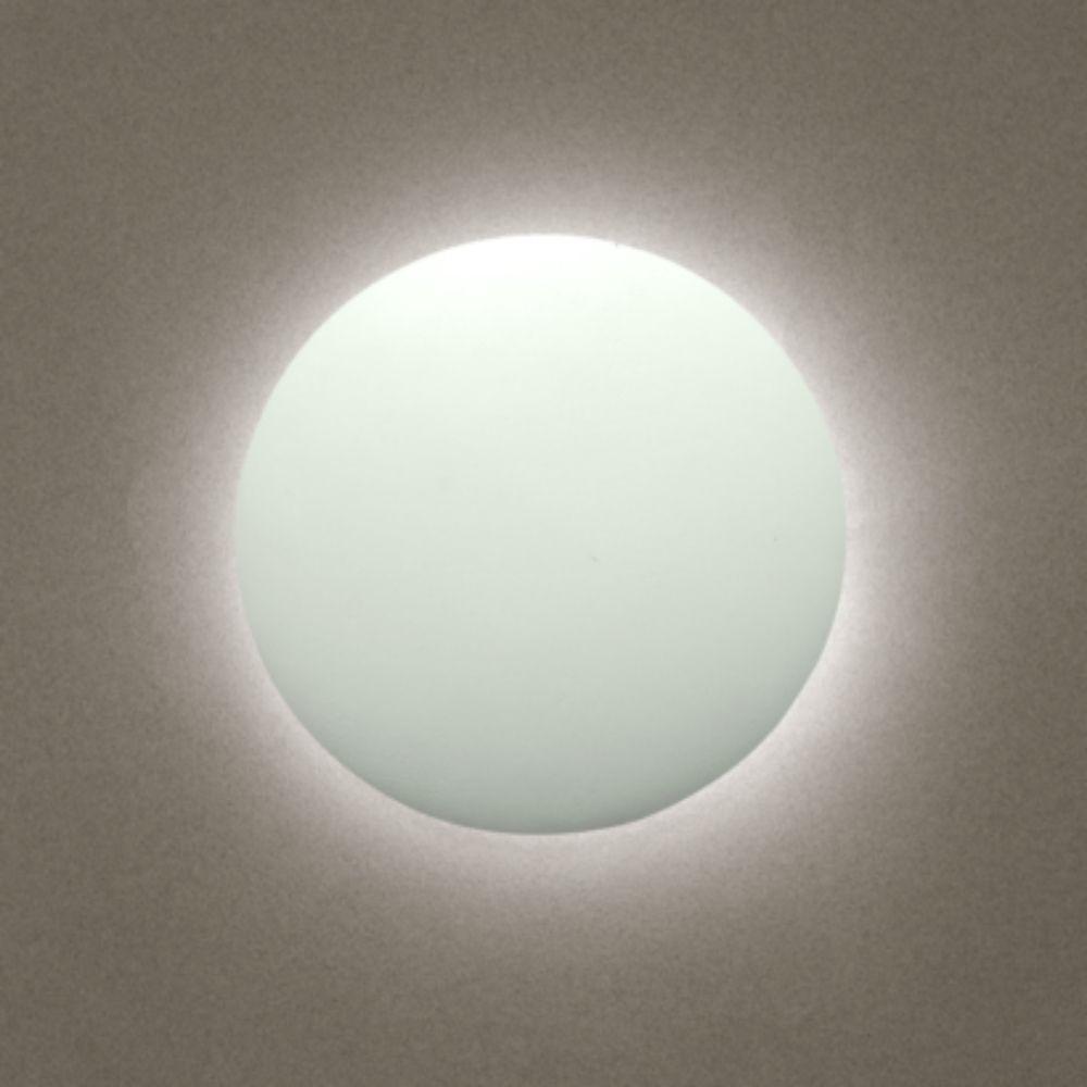 Arandela Eclipse LED 18w Branco Quente 25cm Branco Madelustre