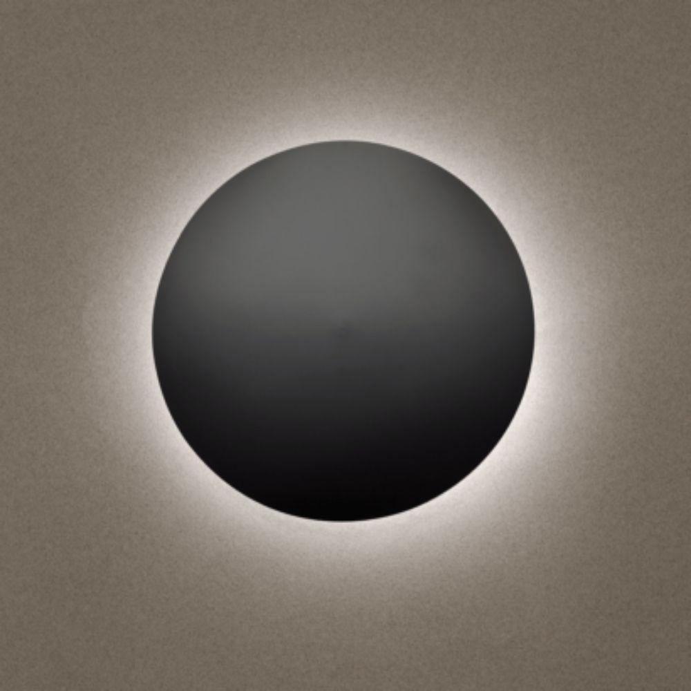 Arandela Eclipse Grande Preta Madelustre