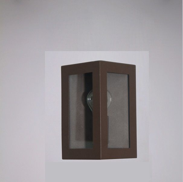 Arandela Externa Retro Triangulo 2 Vidros 23cm Marrom RL
