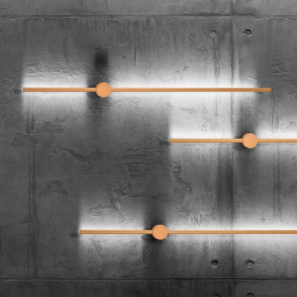 Arandela Led 10w 2700k Tenues Alumínio Dourado Fosco Mais Luz