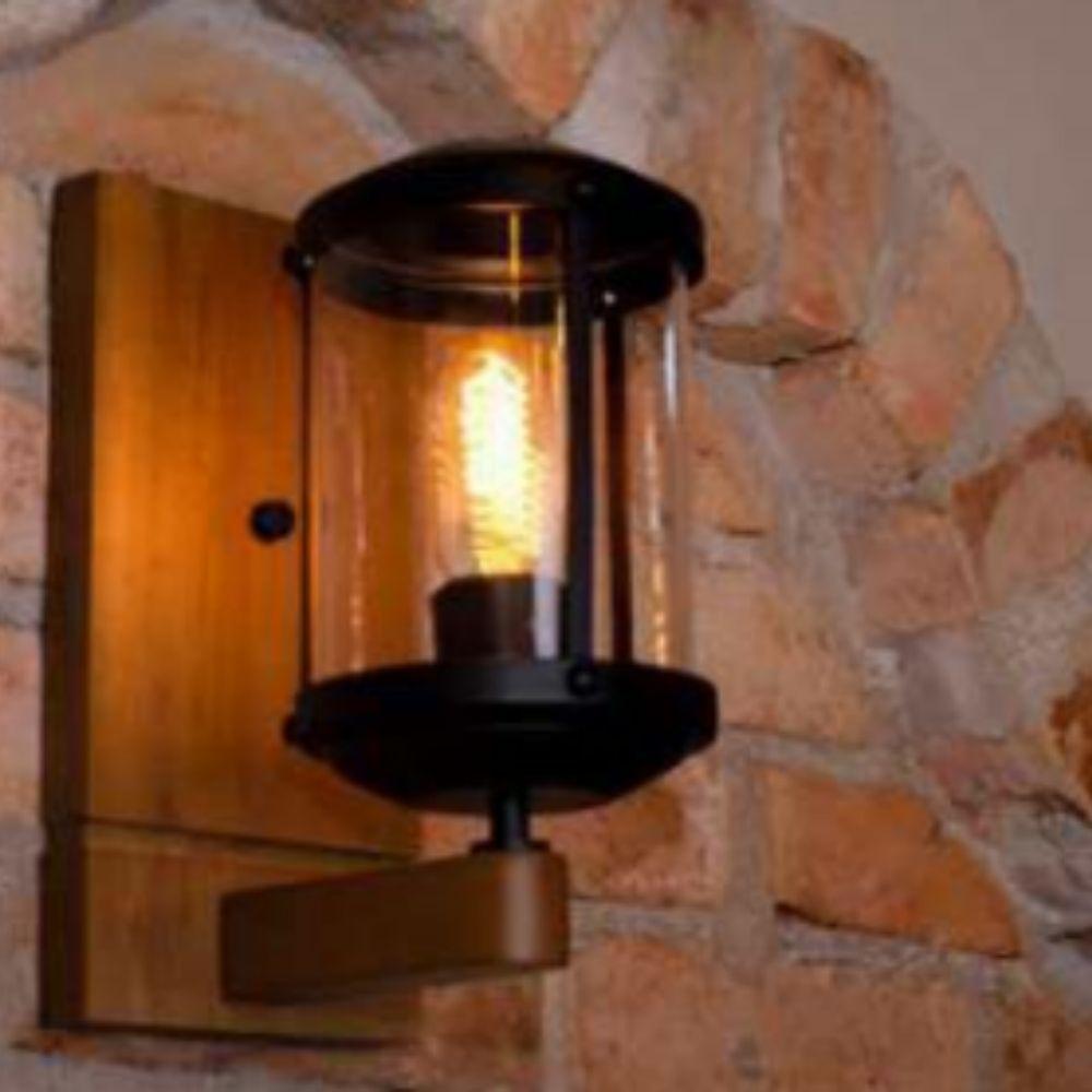 Arandela Urban 1 Lamp Madeira Castanho Madelustre