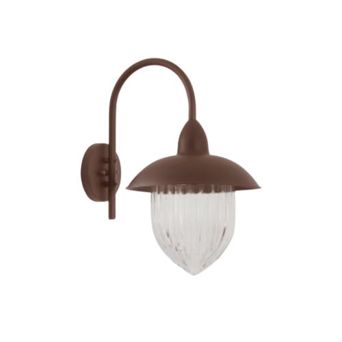 Arandela Veneza 53cm 1 Lamp Marrom Madelustre