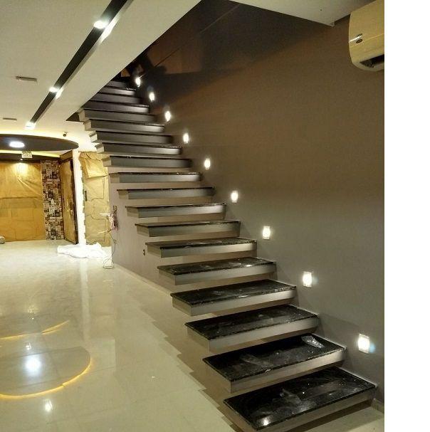 Balizador de Embutir Escada Parede 4x2 Alumínio Preto RL