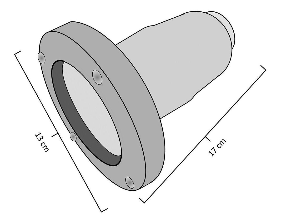 Balizador Embutir de Solo Par20 com Grade em Alumínio Preto RL