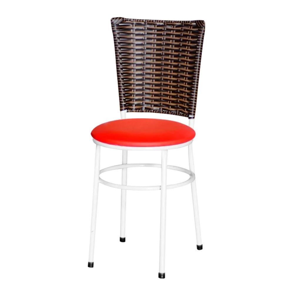 Cadeira Branca Para Cozinha Hawai Cappuccino