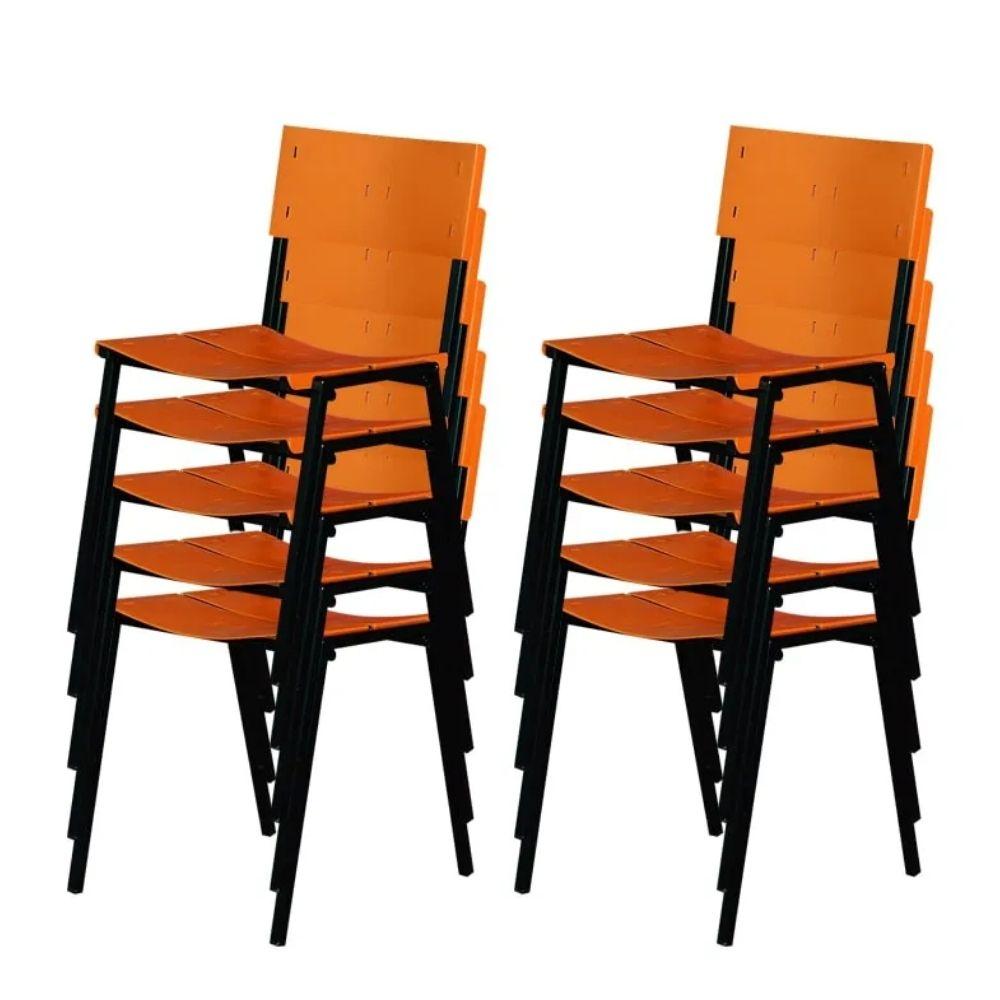 Cadeira ISO Empilhavel Com 10 unidades