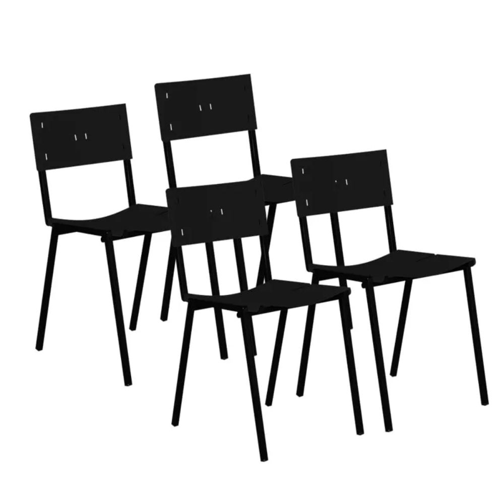 Cadeira ISO Empilhavel Com 4 Unidades