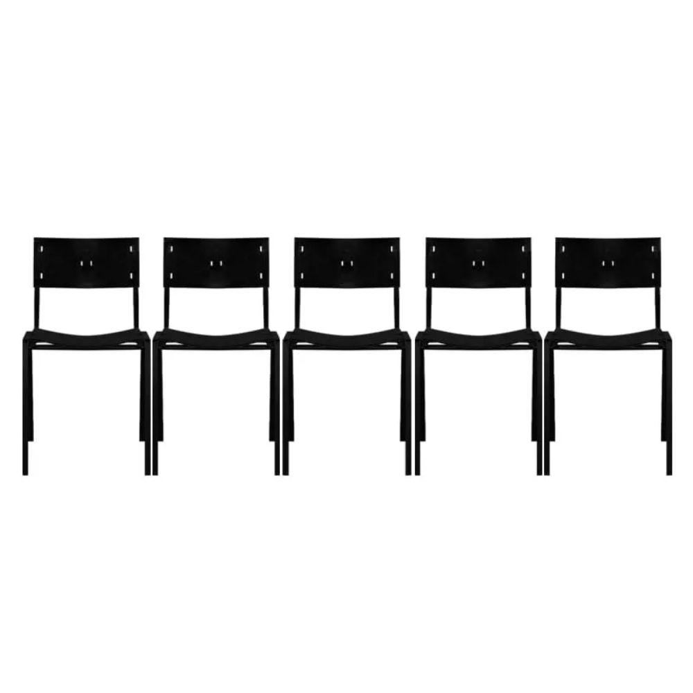 Cadeira ISO Empilhavel Com 5 Unidades