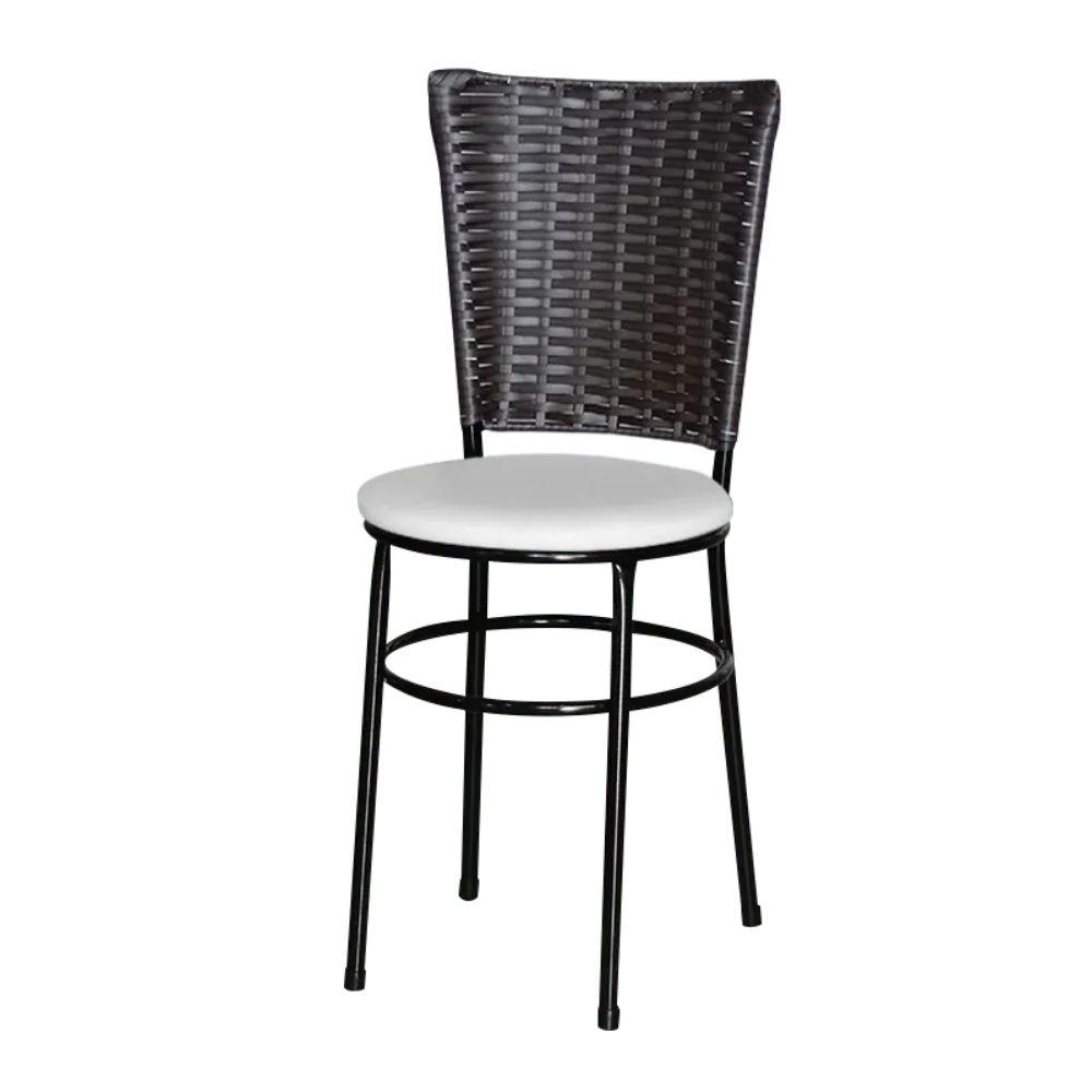 Cadeira Para Cozinha Preta Hawai Café