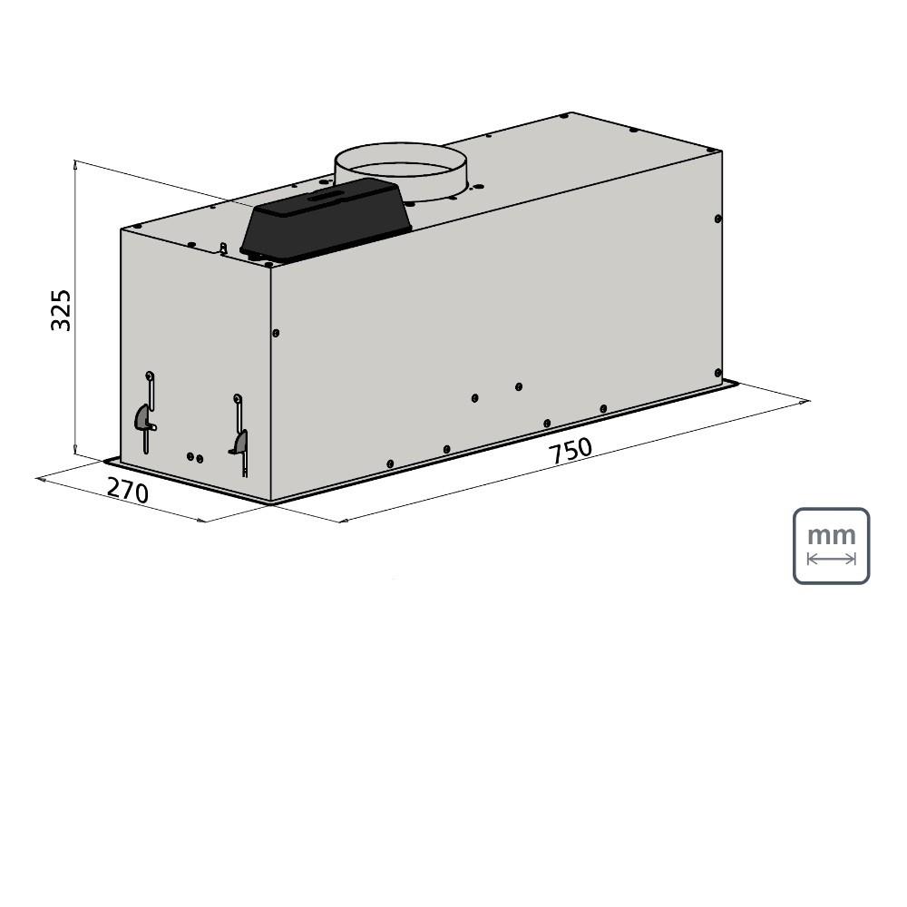 Coifa de Embutir Tramontina Incasso Retangular em Aço Inox 75cm 127V