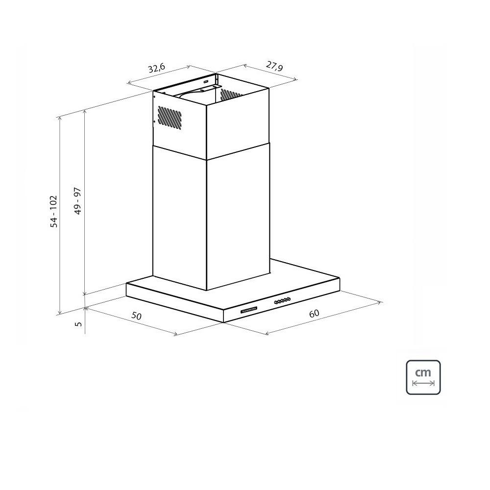 Coifa de Parede Tramontina New Dritta em Aço Inox 60cm 127V