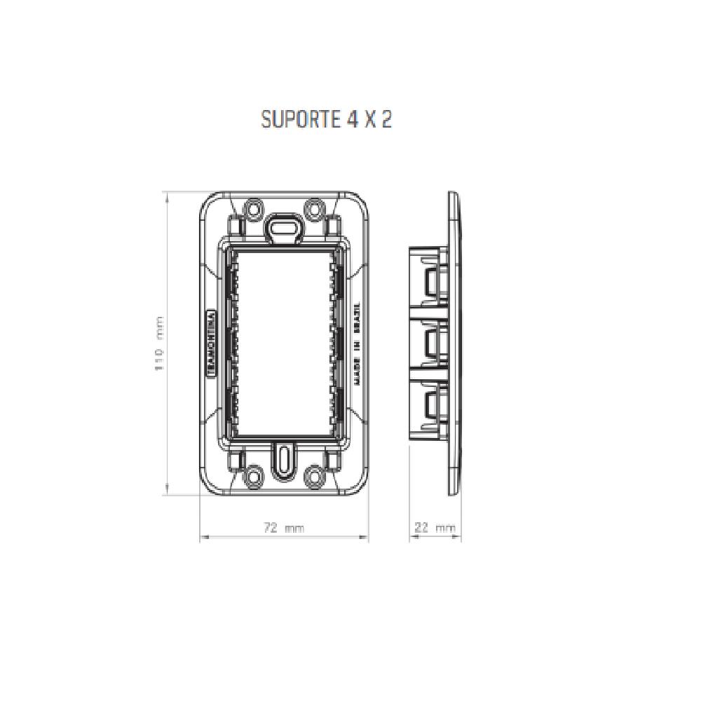 Conjunto Interruptor Paralelo + Tomada 2P+T 20A 4x2 Tramontina Liz