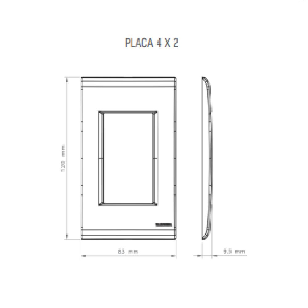 Conjunto Interruptor Simples + 2 Tomada 2P+T 20A 4x2 Tramontina Liz