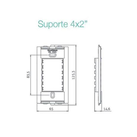 Conjunto 2 Interruptor Tecla Simples 4x2 Sleek MarGirius
