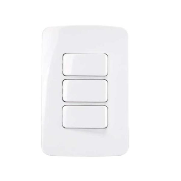 Conjunto 3 Interruptor Simples 4x2 10A B3 MarGirius