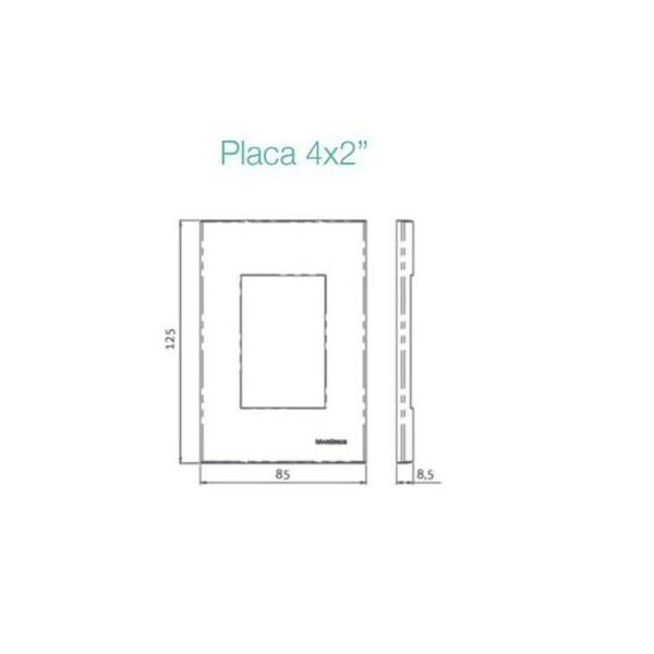 Conjunto Interruptor Bipolar Simples 25A 4x2 Sleek MarGirius