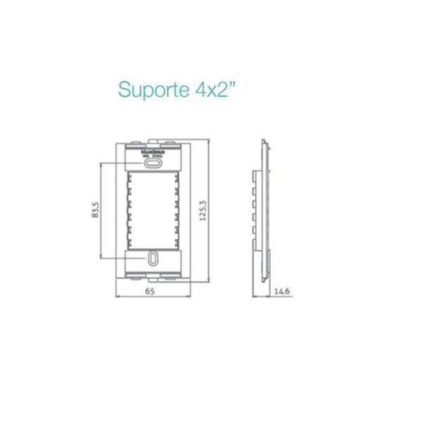 Conjunto Interruptor Tecla Paralelo 10A 4x2 Sleek MarGirius