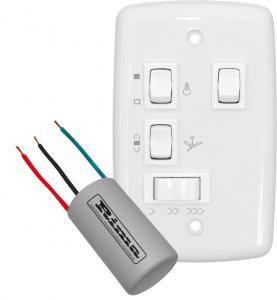 Controle Chave Para 2 Lâmpadas Ventilador Teto e Capacitor 127v