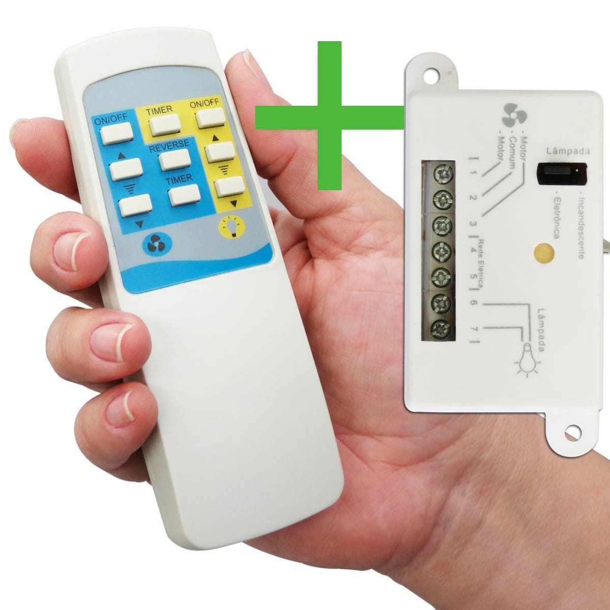 d262fe321 Controle Remoto Universal Wireless P  Ventilador De Teto - Completo ...