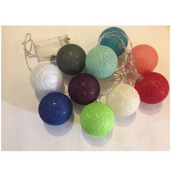 Cordão Luminoso Esfera Bolas Colorida 10 Leds 3000k Taschibra