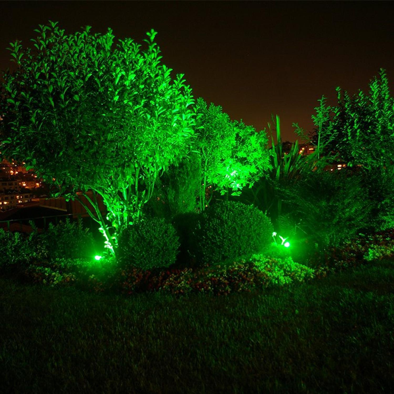 Embutido de Solo Com Lâmpada Par20 Led 6w Verde Taschibra