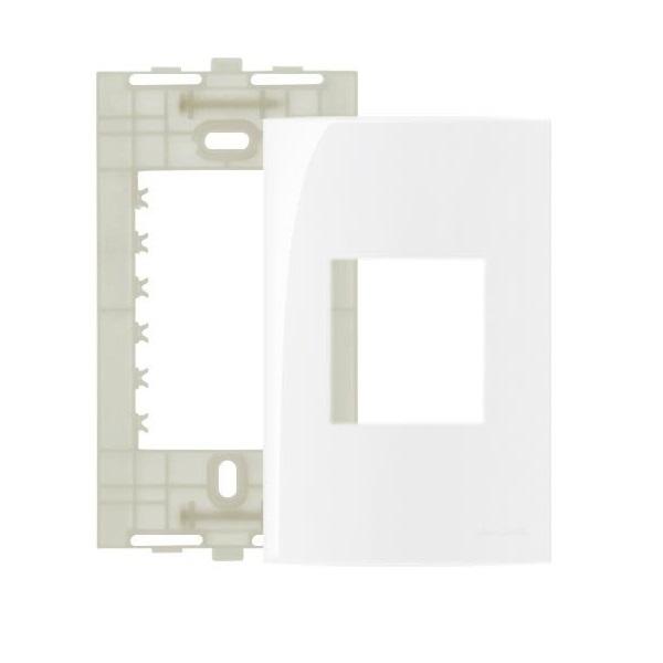 Espelho Placa 4x2 2 Postos Com Suporte Sleek MarGirius
