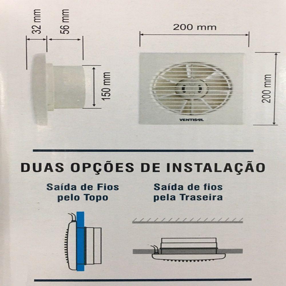 Exaustor de Banheiro EXB 150mm - Ventisol