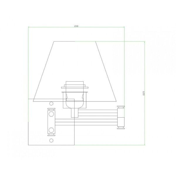 Kit 2 Arandela Articulável Cabeceira Vela Branco com Botão BL
