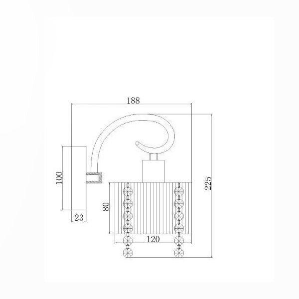 Kit 2 Arandela Cabeceira de Cristal e Cúpula Seda Branco Sirius BL