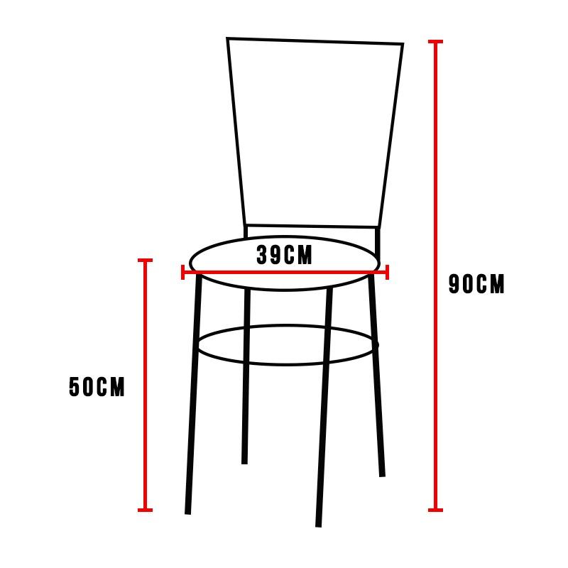Jogo 2 Cadeiras Para Cozinha Epoxi Preta