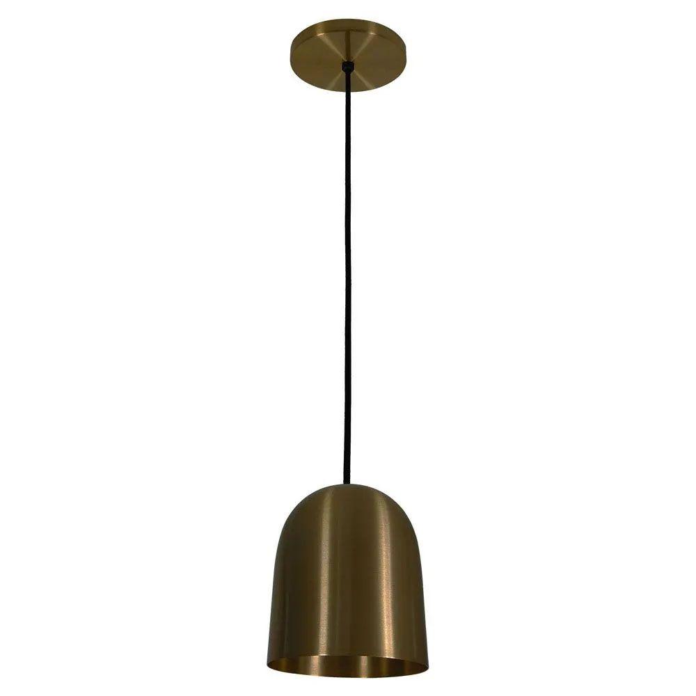 Kit 2 Luminária Pendente 16x14cm Aluminium Bronze - TKS