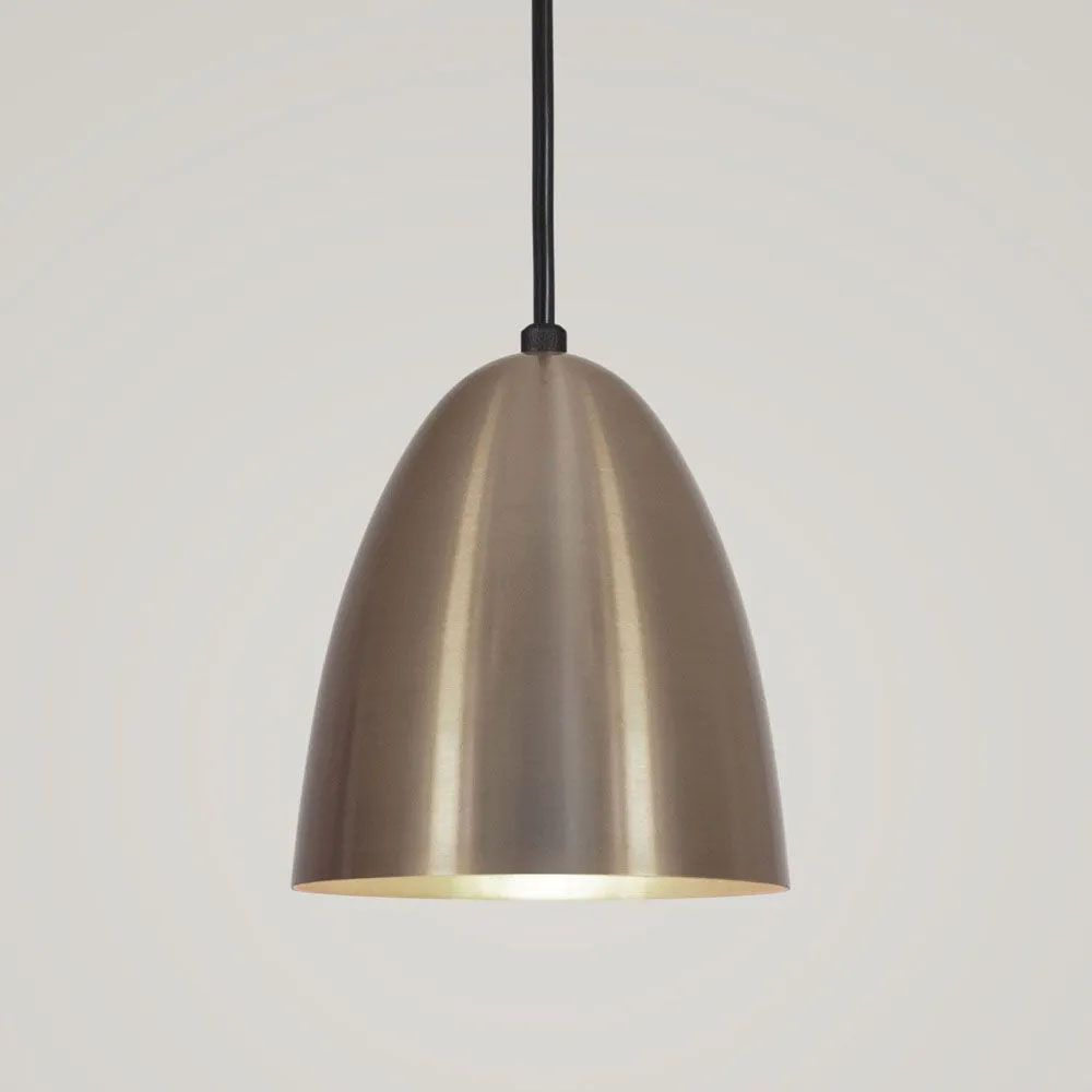 Kit 2 Luminária Pendente Bala 16x13cm Bronze - TKS