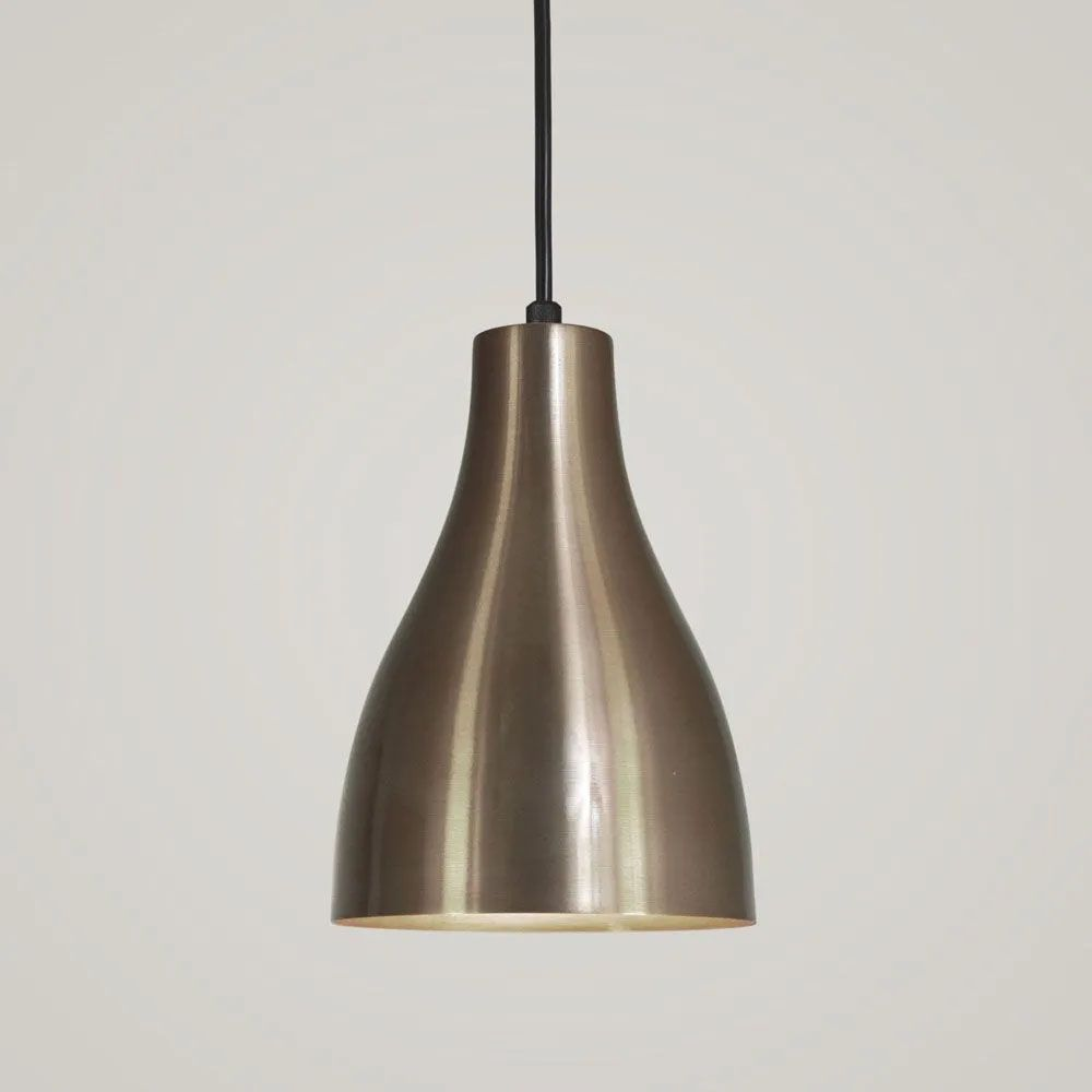 Kit 2 Luminária Pendente Garrafa 20x13.5cm Bronze