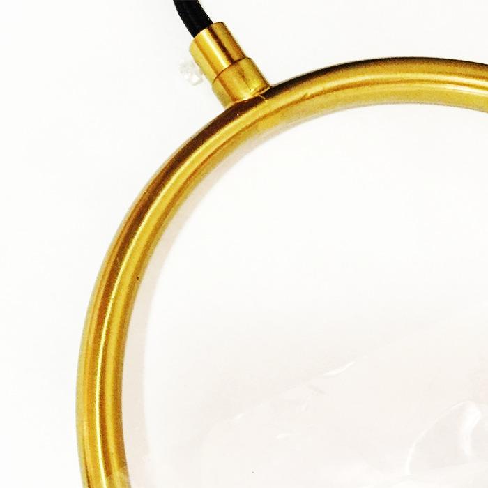 Kit 2 Pendente Ball Estrutura Dourado 1xE27 Esfera Vidro Leitoso