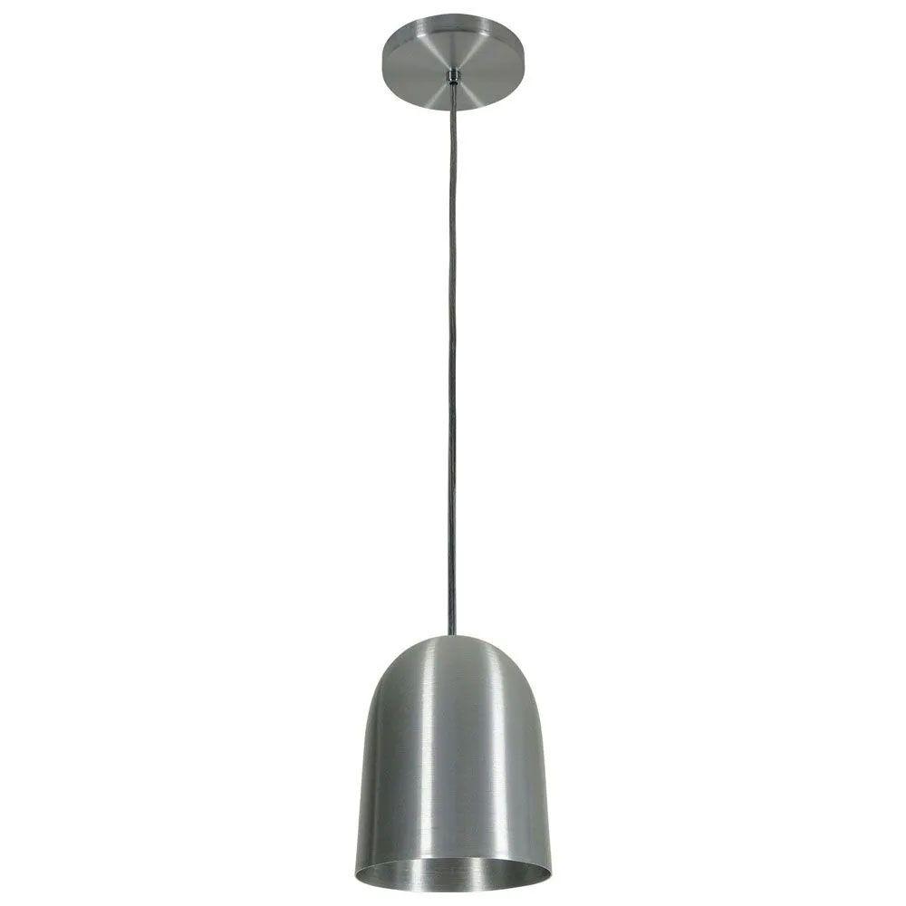 Kit 3 Luminária Pendente 16x14cm Aluminium Escovado