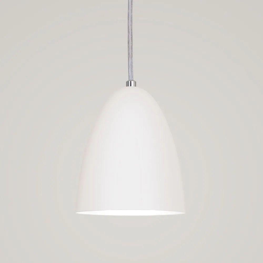 Kit 3 Luminária Pendente Bala 16x13cm Branco Texturizado