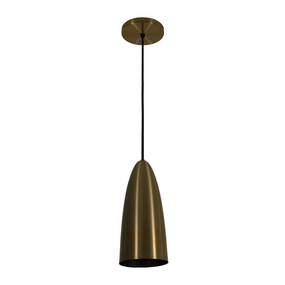 Kit 3 Luminária Pendente Oval 29x13cm Aluminium Bronze