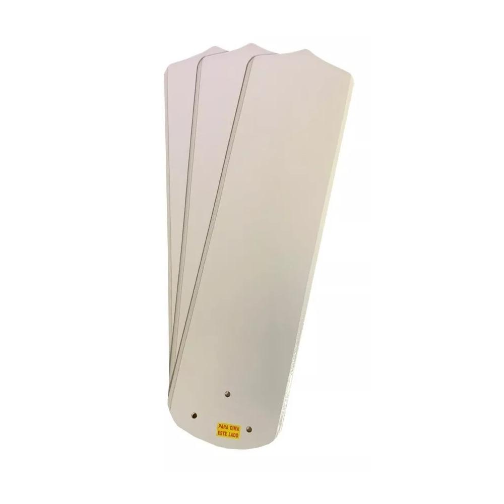 Kit 3 Pás Ventilador Teto Branco Ou Mogno Lumi Loren Sid