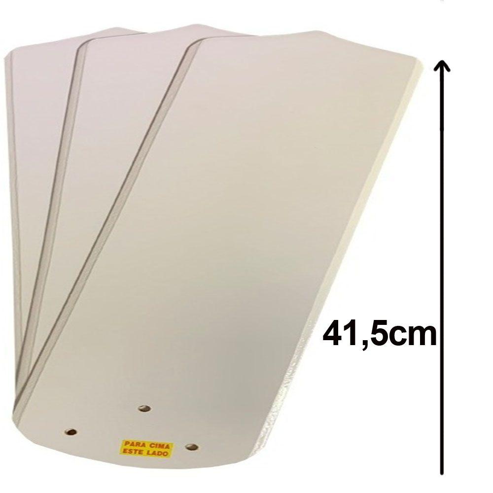 Kit 3 Pás Ventilador Teto Branco Ou Mogno Lumi M2 Loren Sid